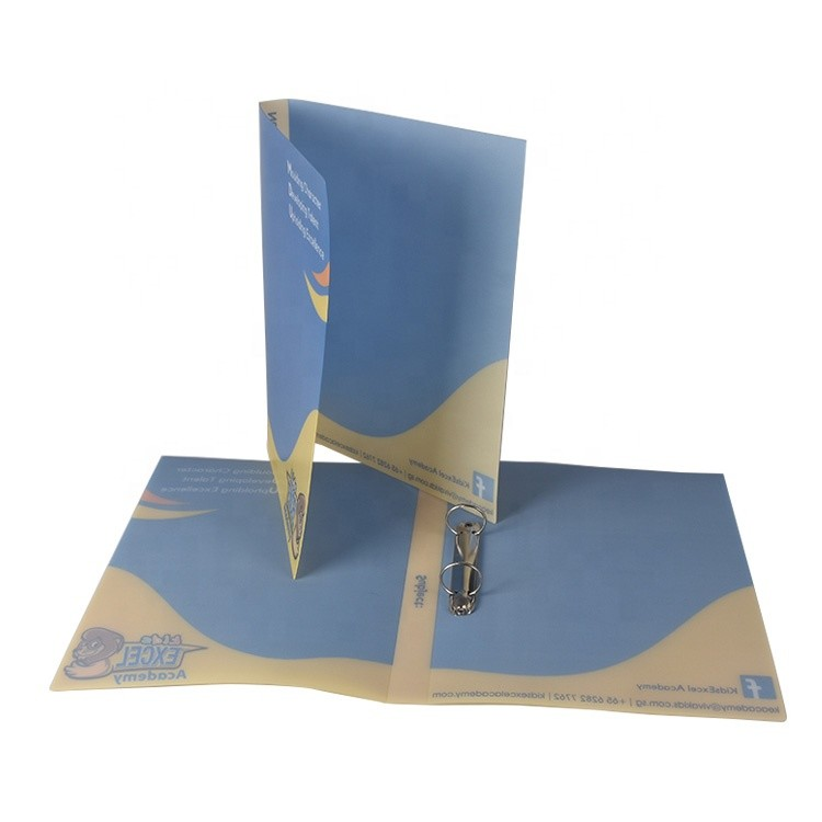 Custom Full Color Printing A4 Size PP Plastic Material 2 Ring Binder