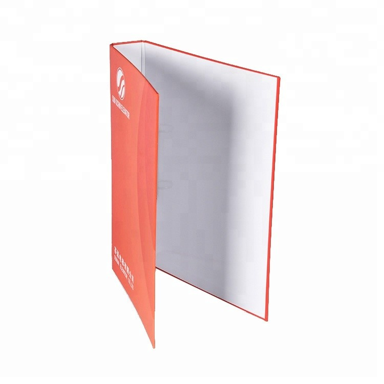 Customized Promotional Cardboard Ring Binder With Metal clip In A4 Size