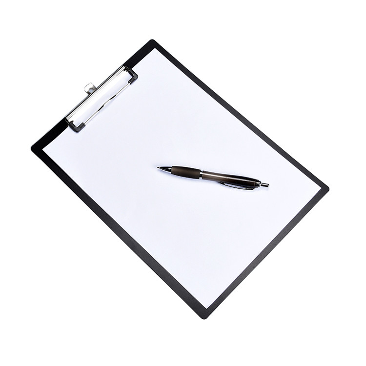 A4 Printed ClipboardPVC or PP Black Clipboard for Office