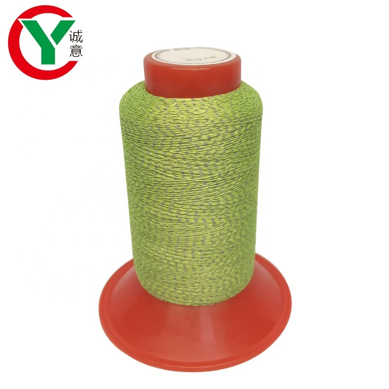 China Manufacturer Woven label Reflective embroidery thread yarn