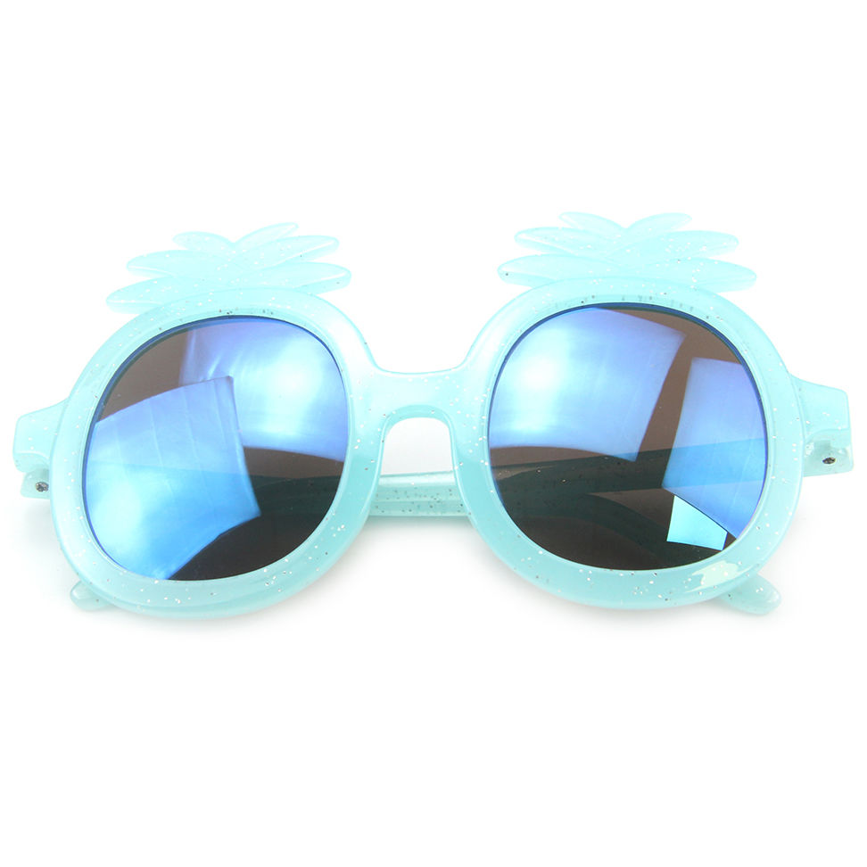 EUGENIA Child Round Sunglasses Kids Girls Boys pineapple shape Vintage Plastic Cute Children Sun Glasses Frame Eyewear