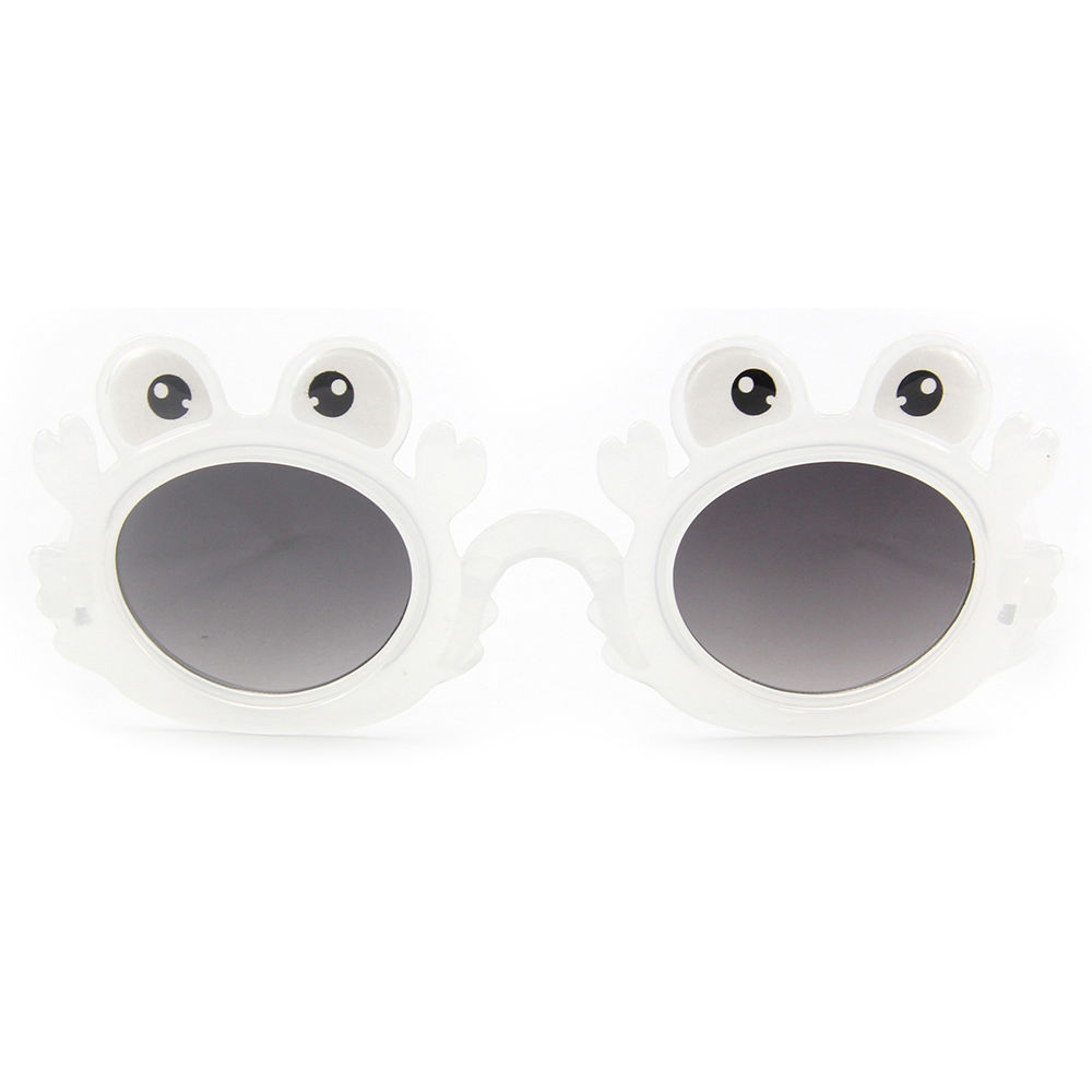 EUGENIA 2021 Kids Sunglasses frog Frames Cheap Cute Round UV400 Lenses Children sun Glasses