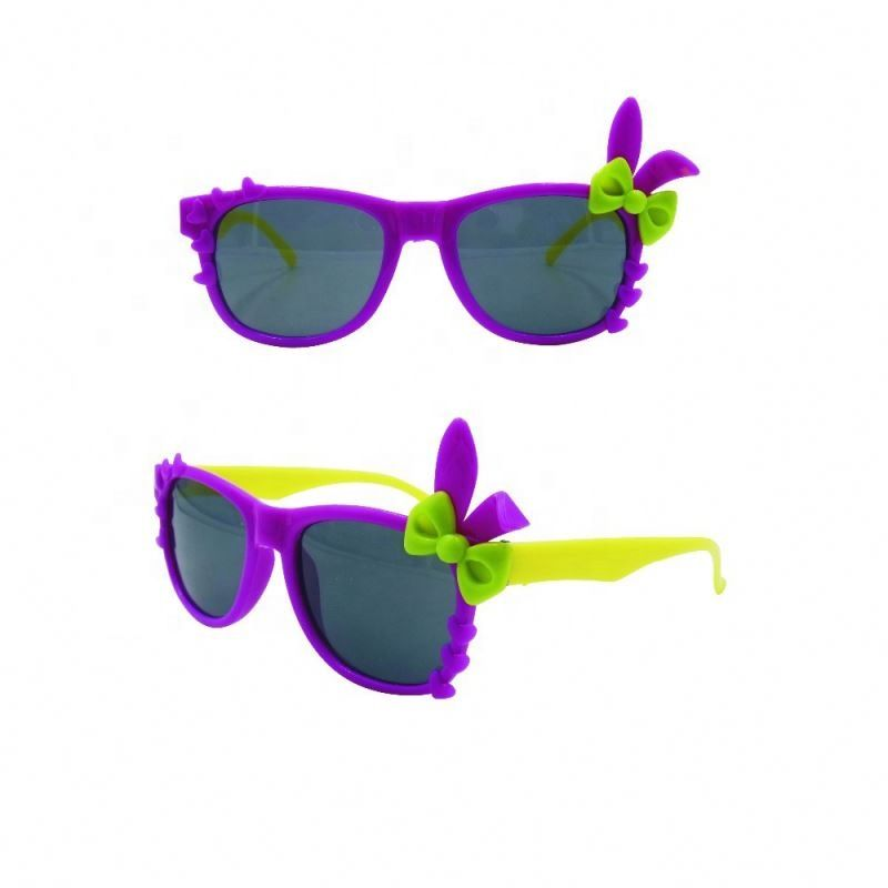 plastic material fantastic beautiful flower nice looking kids sunglasses