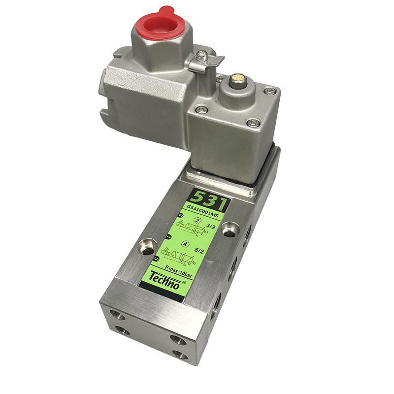 G531C001MS Single Coil NAMUR Integrated Pilot Operated Explosion Proof Stainless Steel Solenoid Valve