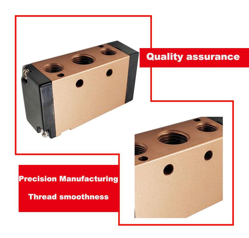 Pneumatic Parts pneumatic air valve 1/4inch 4V210-08 5/2 way solenoid valve