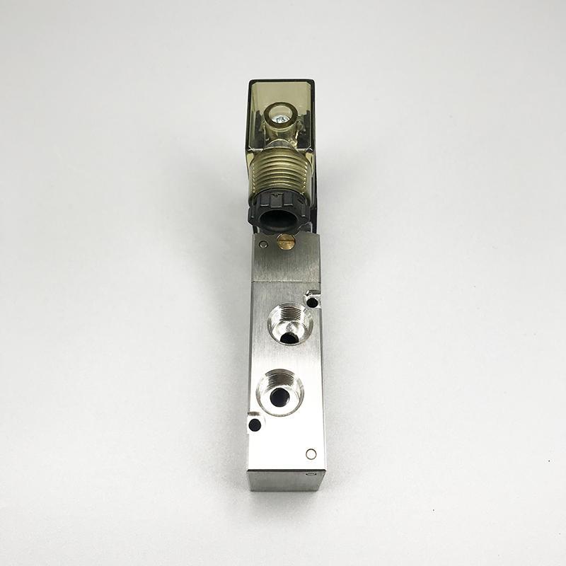 Stainless Steel 5 Port 3 Position 4V200 Series 4V210-08 Solenoid Valve