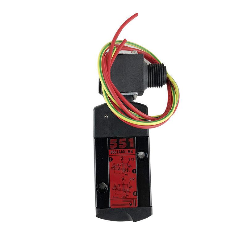 Black Aluminium EF8551A001MS Spool 1/4 Inch Pneumatic Valve