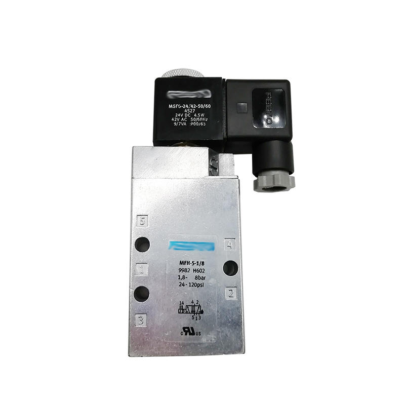MFH-5-1/8 Normally Closed With Coil G1/8 5/2 Way Tiger Classic Single Coil Solenoid Valve