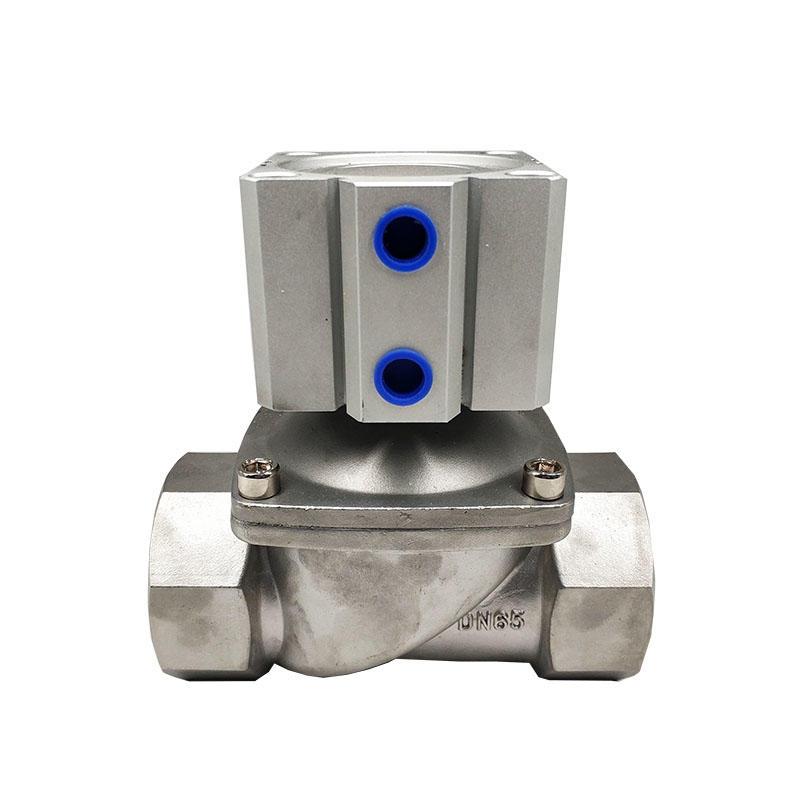 Pilot type 1.5inch Safety solenoid valve 2.5inch Stainless steel cylinder solenoid valve