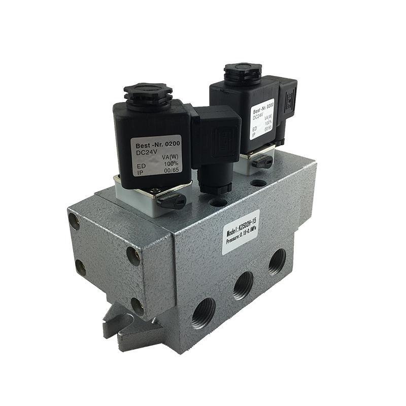 2/5 way K25D2-15 Sliding column type directional valve 1/2inch Safety solenoid valve
