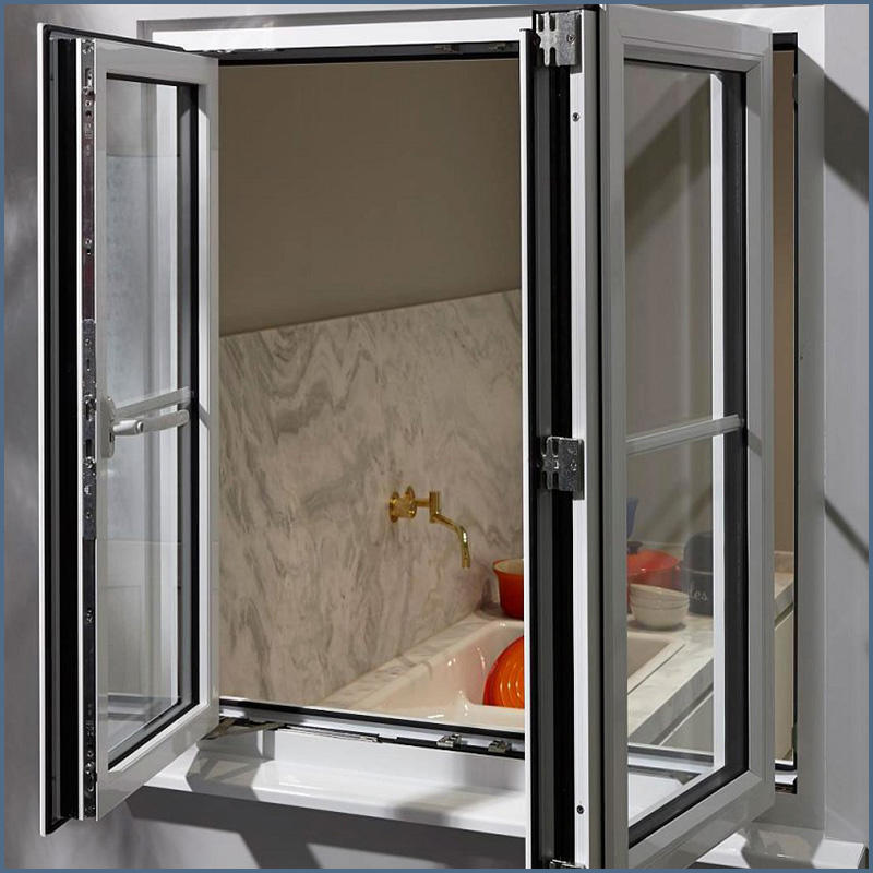 Double Glazed Windows Aluminum frame tempered glass swing window