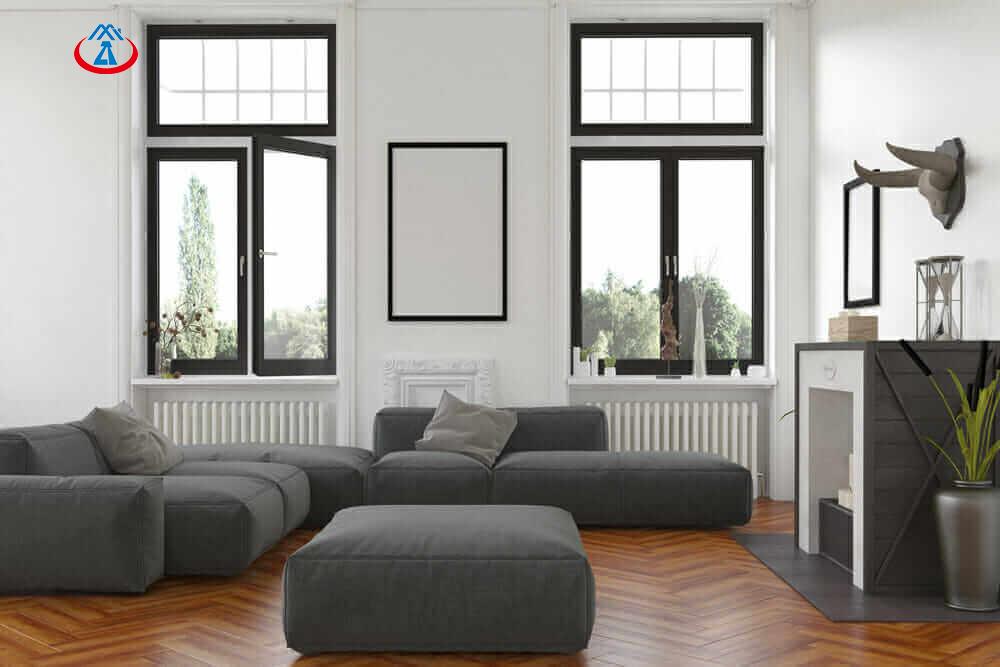Used Aluminum Frame Double Glazed Tempered Glass Inward Casement Window For House