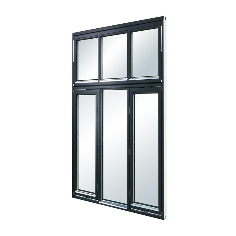 High Quality Tempered Glass High Performance Aluminum Swing Window