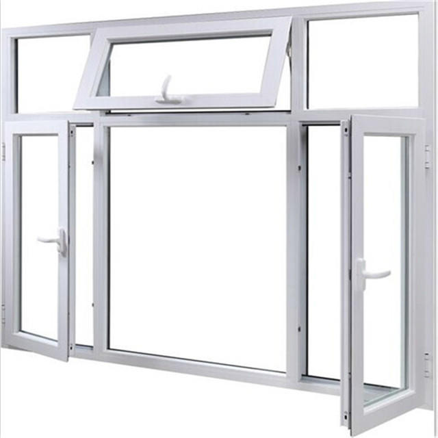 6mm Aluminum Frame Tempered Glass Swing Window for House or Villa