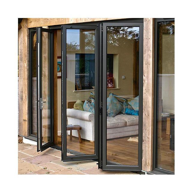 Classical Balcony waterproof double glass aluminium folding door accordion doors