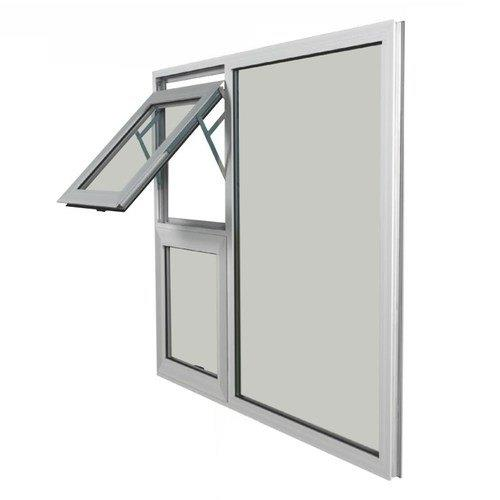 High Quality Clear Tempered Glass White Aluminum Frame Color Factory Price Swing Window