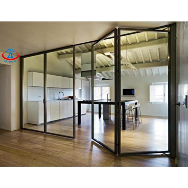 Modern exterior Wind resistance toughed glass cheap bifold doors bifold doors
