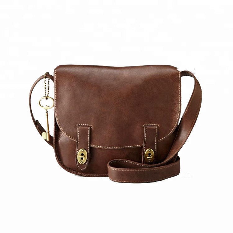 China Wholesale Women Small Cow Leather Designer Side Messenger Bag