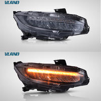 Vland manufacturer for Civic headlight for 2016 2017 2018 for Civics LED head lamp with moving signal turn light