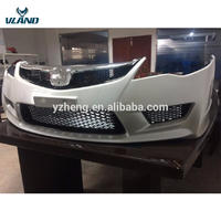 Vland factory Car Accessories for civic Bumper +middle grille 2006 2007 2008 2009 2010 2011 wholesale price