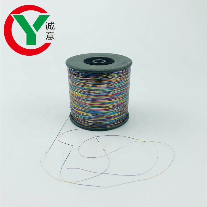 China Wholesale high quality rainbow color M type metallic yarn