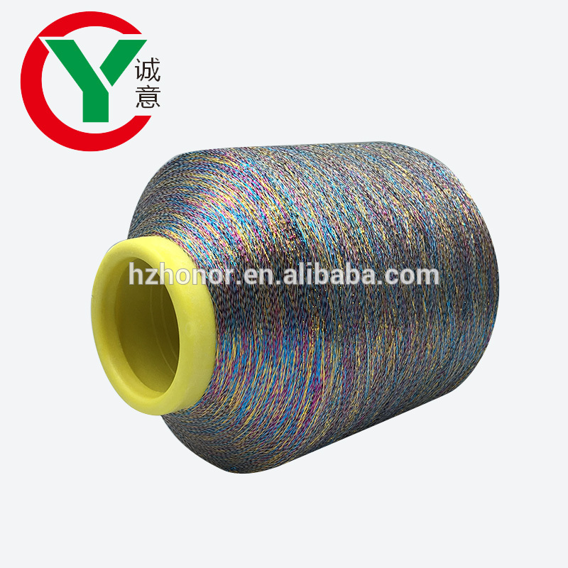High quality colorful metallic yarn used for knitting,embroidery