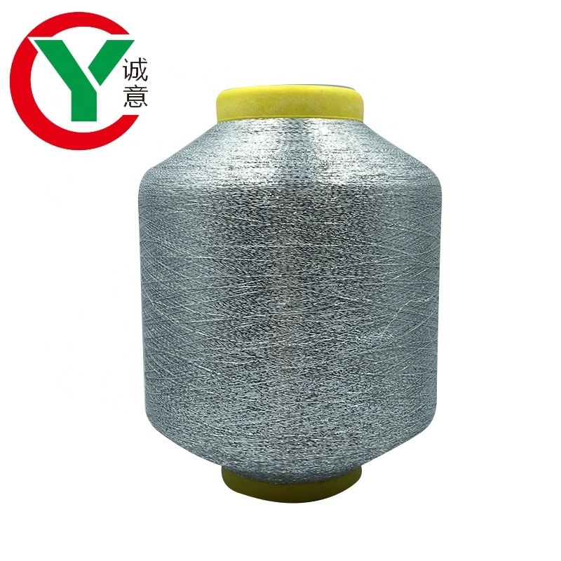 MH Type Silver Polyester Metallic Yarn For Knitting