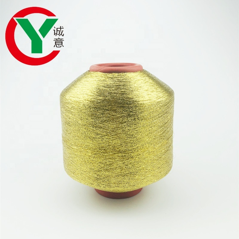China manufacturer wholesale pure gold MH type mamilon metallic yarn