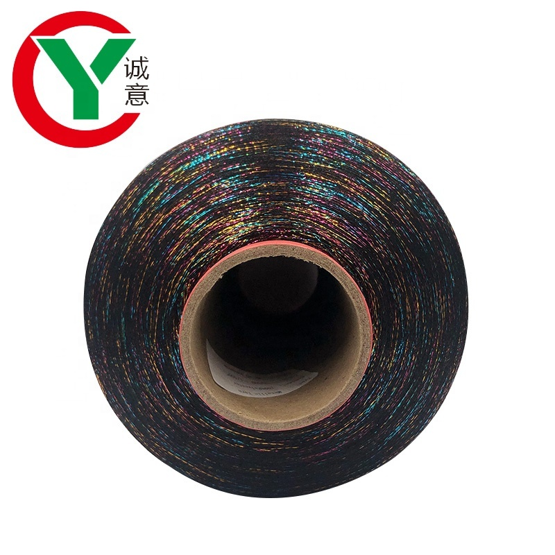 Colorful Supper Soft MH Type Gold Polyester Metallic Yarn For Knitting