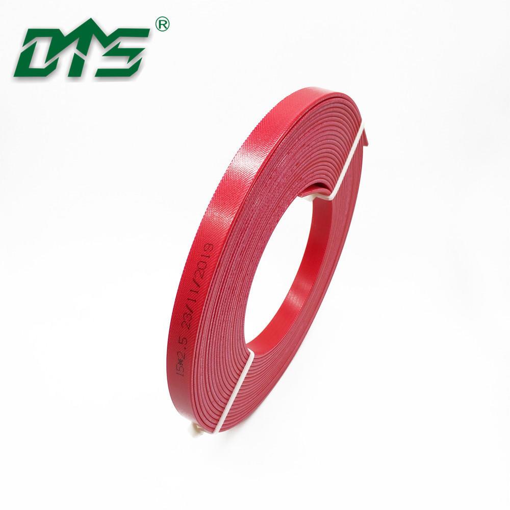 Hydraulic Actuators Piston Seals Phenolic Resin Wear Strips Red Color