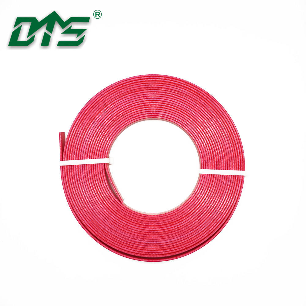 Hydraulic Actuators Piston Seals Phenolic Resin Wear Strips Red Color