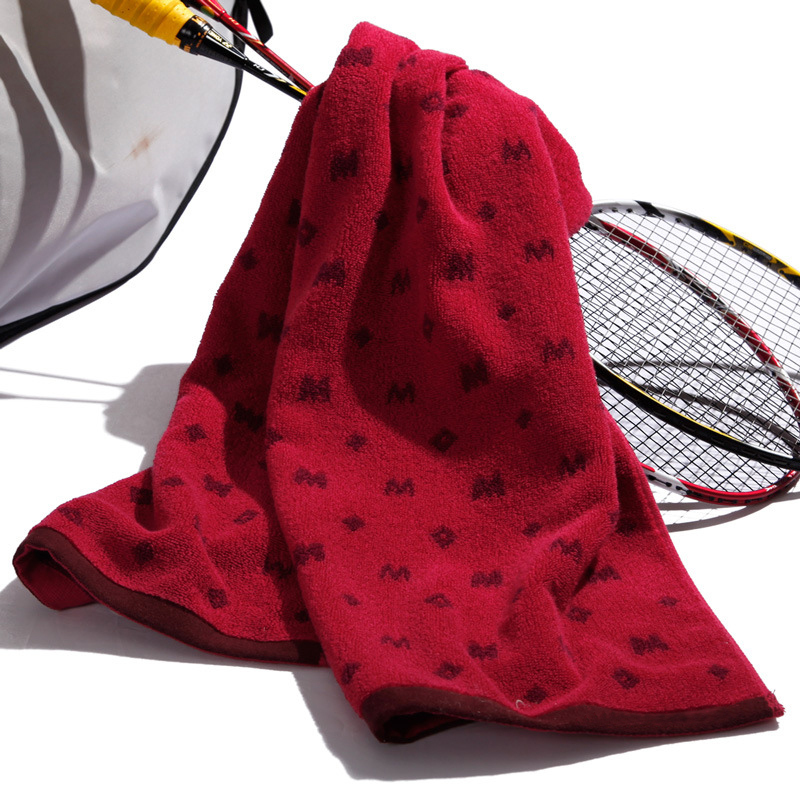 Hot sales Good price Best quality Custom Cotton Jacquard Sport Gym towel Custom Design