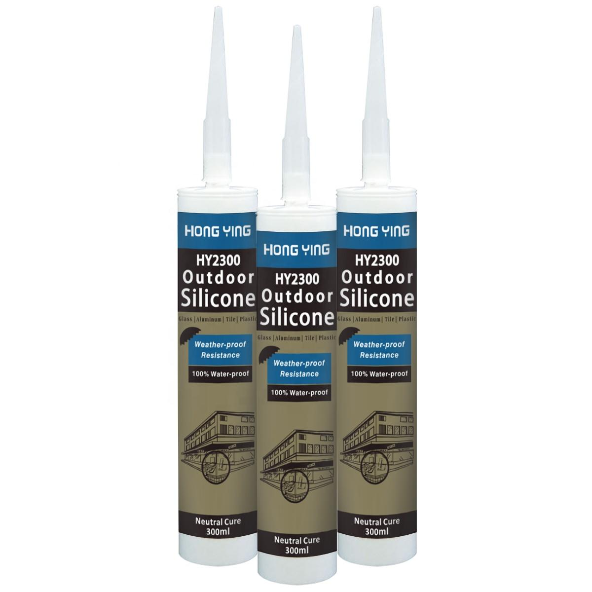 OEM GP 100% Acetic Building Strong Metal RTV Marble Stone Transparent Silicone Adhesive For Glass