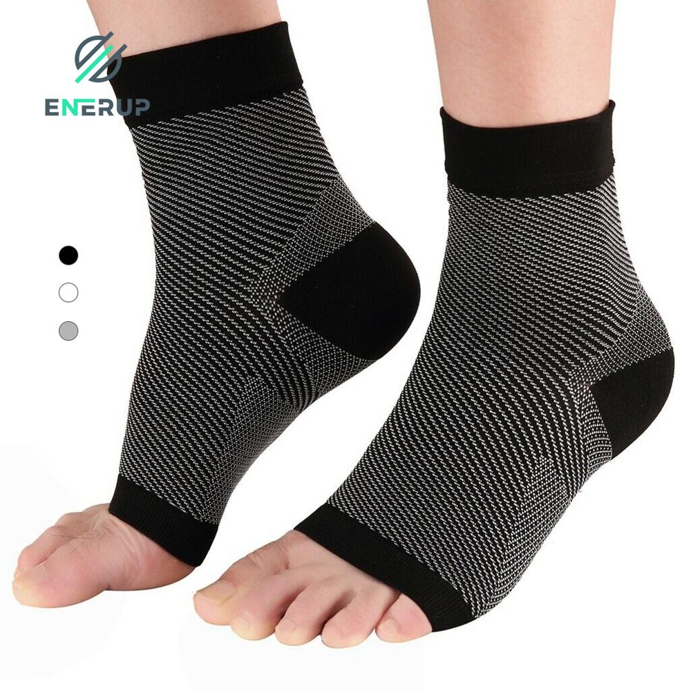 Enerup Plantar Fasciitis Seamless Tobillera Estabilizadora Deportiva Elastic Compression Foot Sleeve Ankle Support Brace
