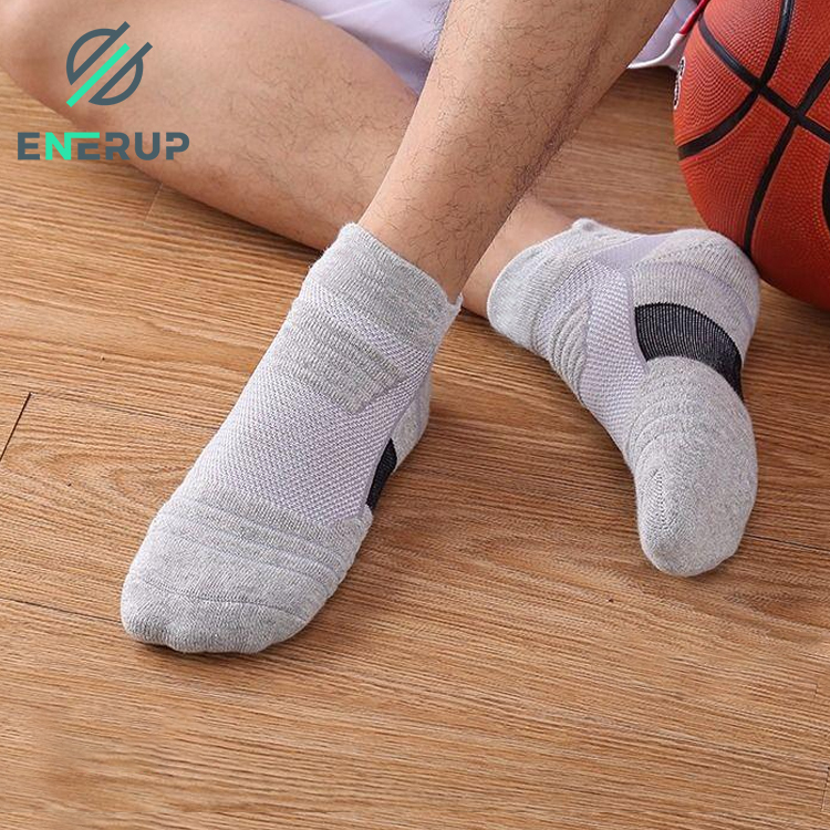 Enerup Cotton Cheap Fashion Letter Printed Custom Design Boots Foot Bulk Wholesale Ankle Sine Socks For Women
