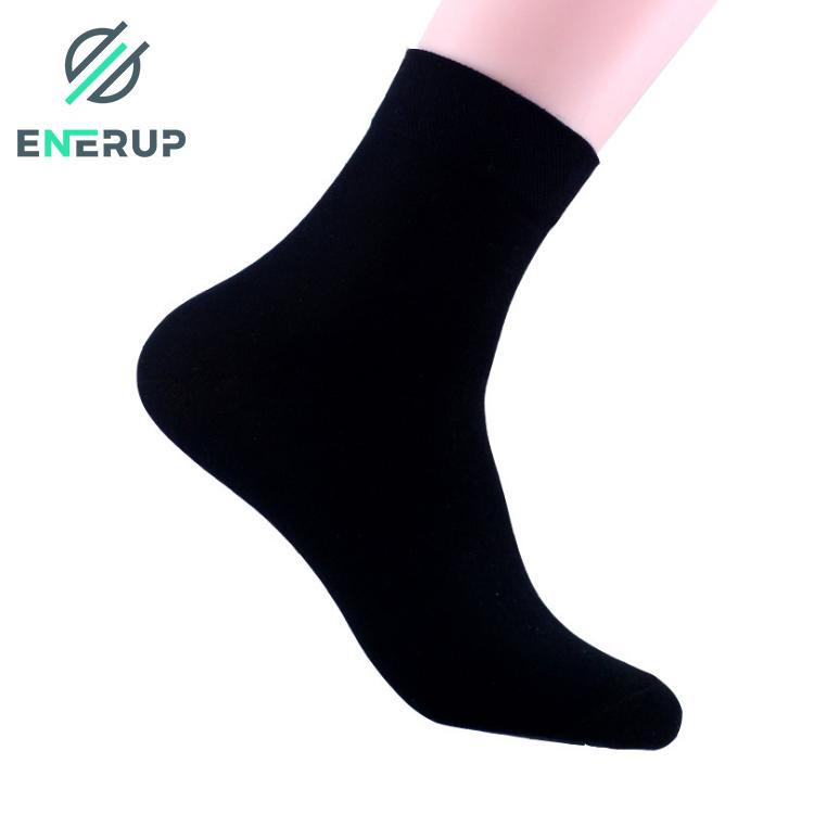 Enerup Cotton Black Women Custom Oem Business Customised Wholesale Calcetines Al Por Mayor Ankle Mens Dress Socks