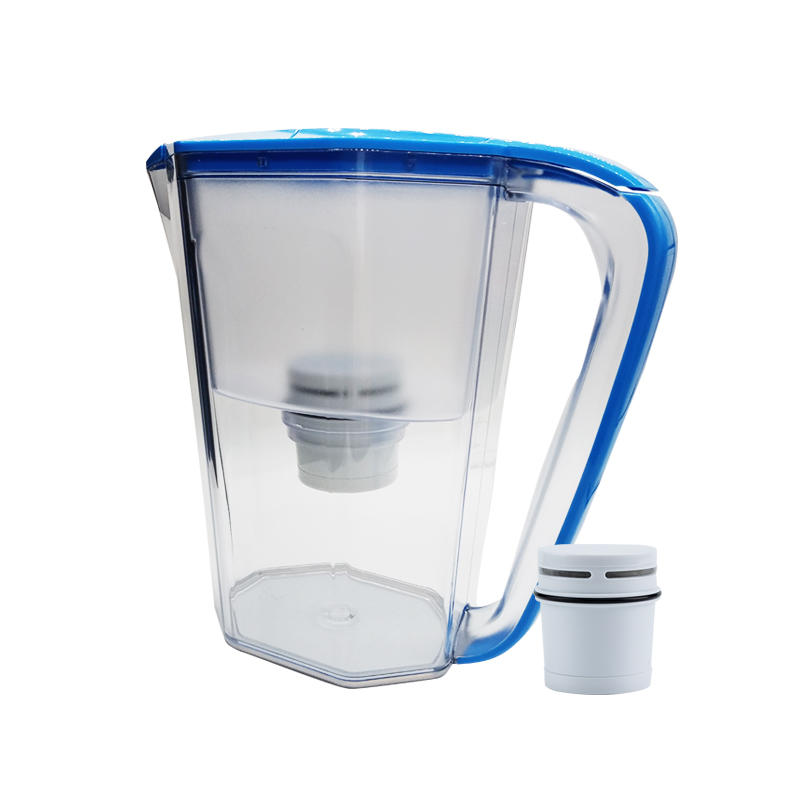 Soften water bottle jug with carbon filter for home and office