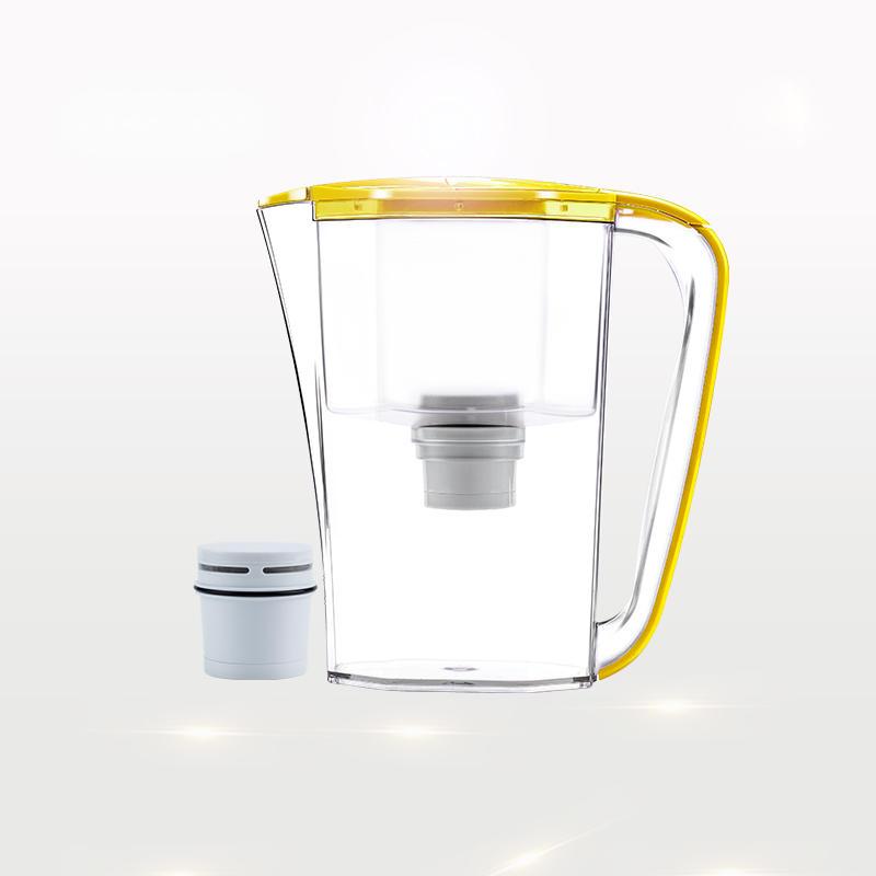 Wholesale desktop water filter jar ion resin water jug with handle