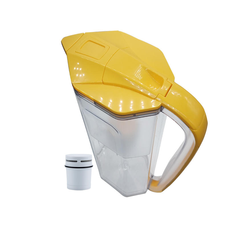 Fast filtration water filter pitcher with resin filter for home kitchen