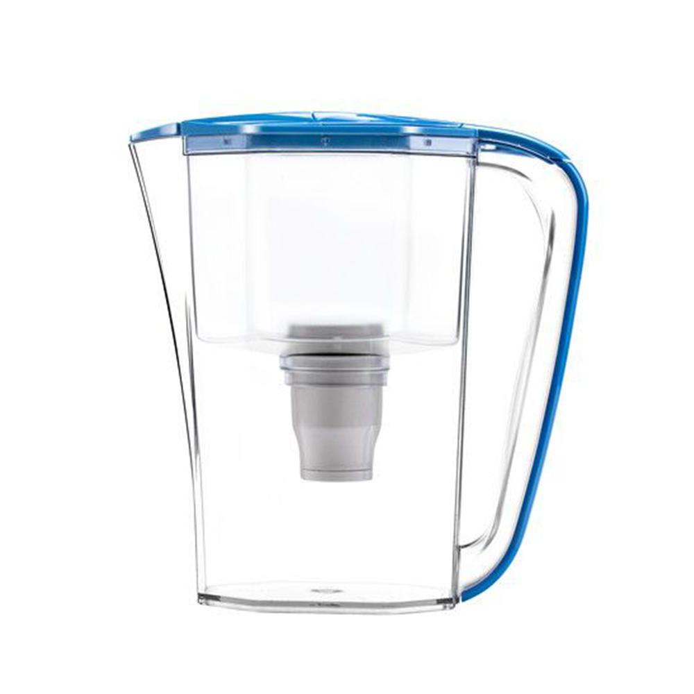 Factory price easily installed 2.5l alkaline plastic water filter jug with lid