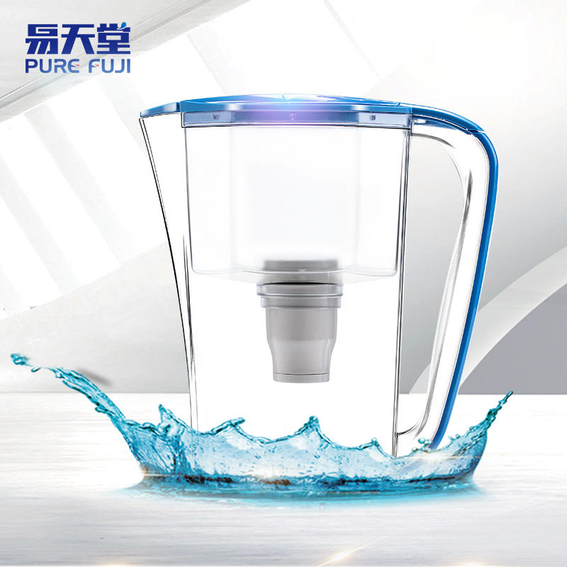 Portable mineral water pitcher with water filters for home drinking
