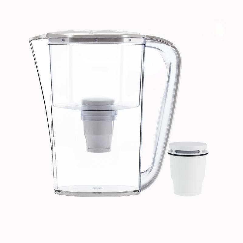 New design Portable effective water filter jug with replaceable 2 Stage filter