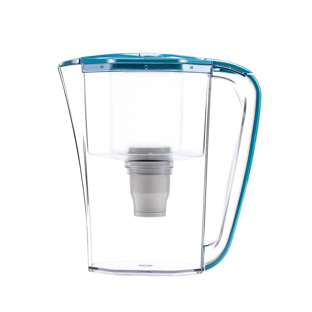 No stress required premium food grade plastic alkaline water filter jug