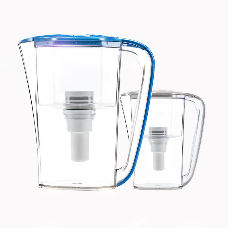 Hot sale water filter pot without pump and electricity/ mineral water purifier jug