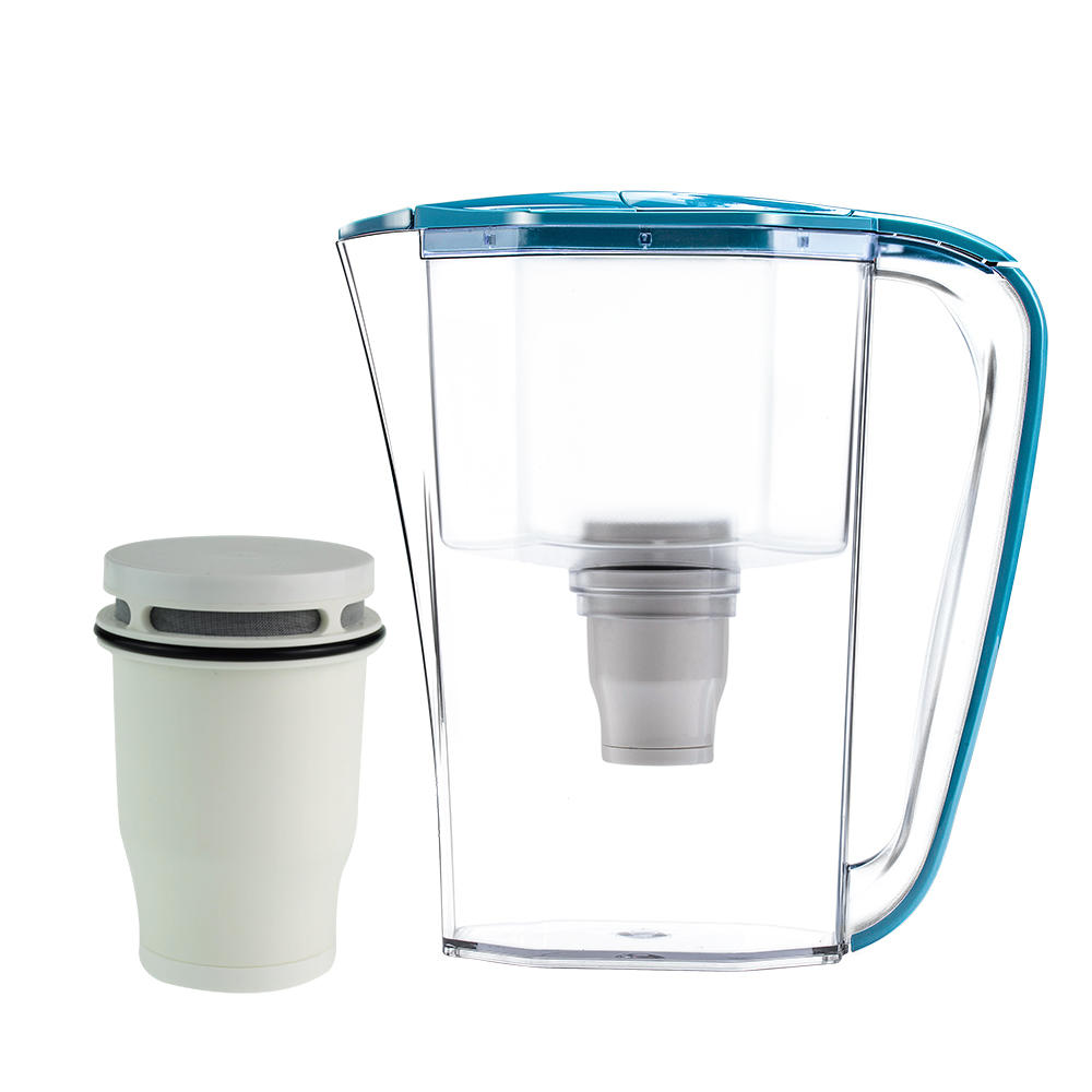 New design eco friendly 2.5l household portable mineral water filter jug