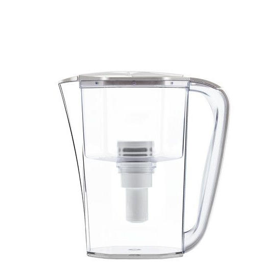 8-cups large capacity blue water filter pitcher with replaceable filter