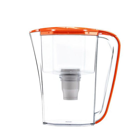3.5L high-end portable plastic water purifier pitcher with hollow fiber water filter material