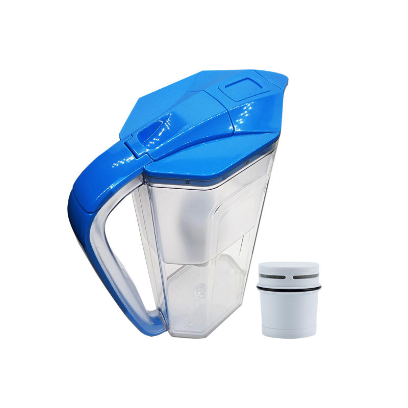 Water filter pitcher with ion resin exchange filter remove water hardness
