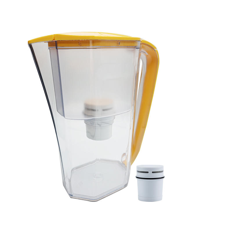 Food grade plastic water cooler purifier jug bottle with carbon fiber filter