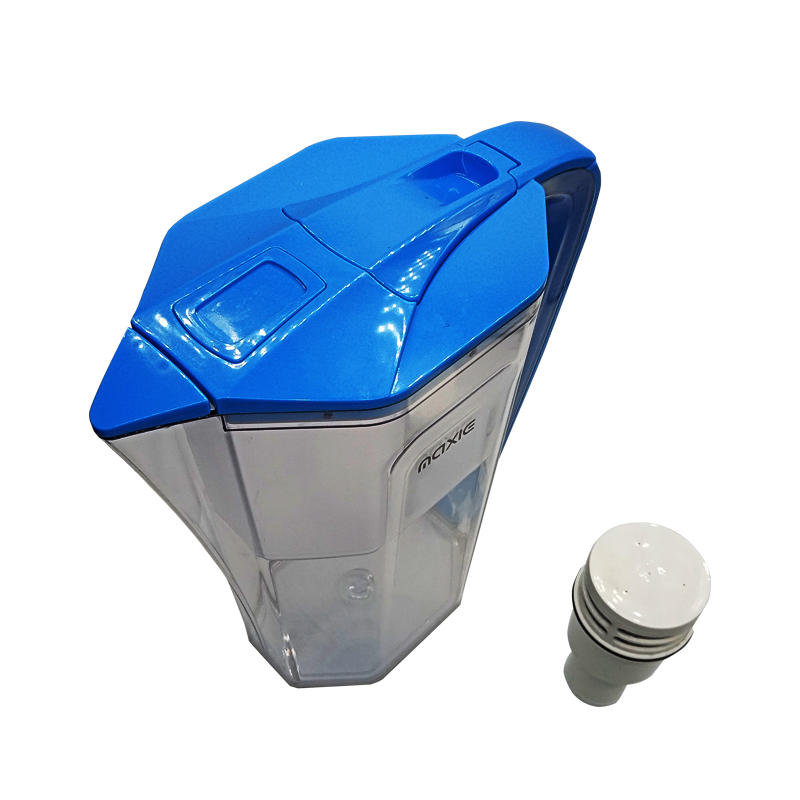 Portable alkaline water filter pitcher with activated carbon